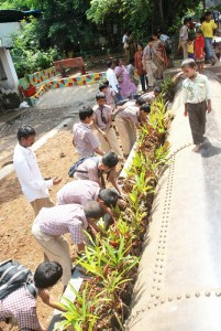 School Students doing Plantation in our area